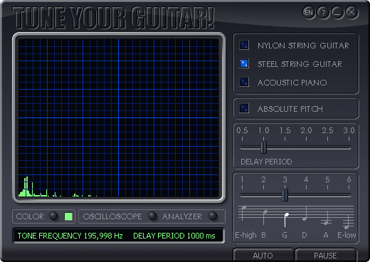 Скриншот 'Tune Your Guitar v1.8'