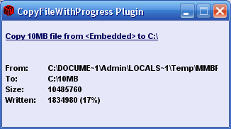 Скриншот 'CopyFileWithProgress'